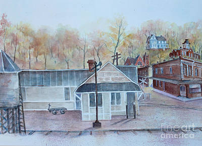 Drug Stores Painting - Erin 1921 by Janet Felts