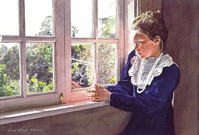 Most Popular Painting - Erin Foster Waiting For Daddy by David Lloyd Glover