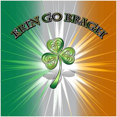 Digital Art - Erin Go Bragh Flag by Ireland Calling