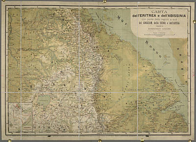 Cartography Photograph - Eritrea And Abissinia by British Library