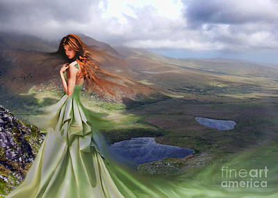 Tuatha Digital Art - Eriu by Christy Nicholas