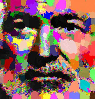 Painting - Ernest Hemingway - Abstract by Samuel Majcen