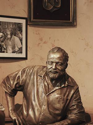 Photograph - Ernest Hemingway Bronze Cuba by Jo Ann Tomaselli