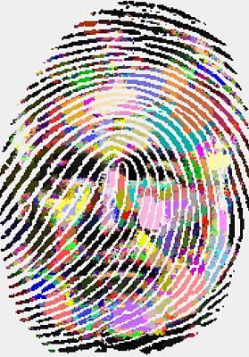 Painting - Ernest Hemingway - Fingerprint by Samuel Majcen