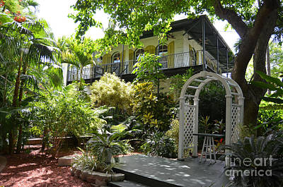 Photograph - Ernest Hemingway House And Lush Gardens Key West Florida by Shawn O'Brien