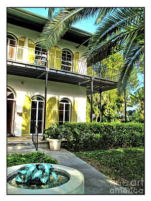 Photograph - Ernest Hemingway House by Joan  Minchak