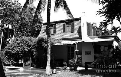 Photograph - Ernest Hemingway House Writing Studio Key West Florida Black And White  by Shawn O'Brien