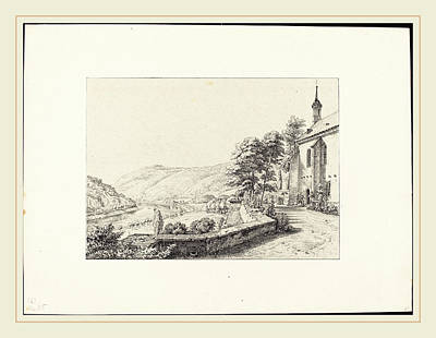 1833 Drawing - Ernst Fries German, 1801-1833, The Convent Terrace by Litz Collection