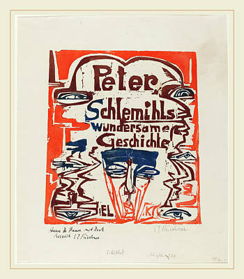 Color Block Drawing - Ernst Ludwig Kirchner, Peter Schlemihls Wundersame by Litz Collection