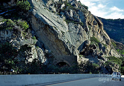 Photograph - Eroding Hillside And Tunnel by Susan Wiedmann