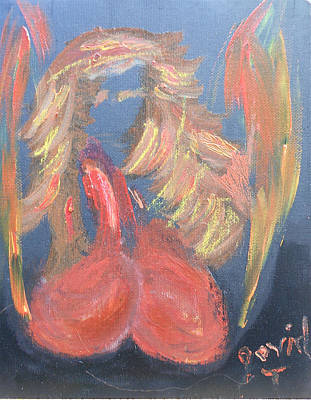 Painting - Eros Angel by David Trotter