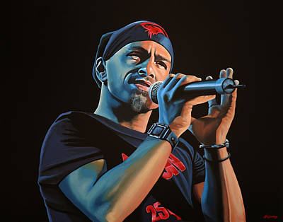 Eros Ramazzotti Painting Art Print by Paul Meijering