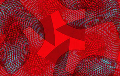 Red Abstract Digital Art - Erotic Abstract by Steve K
