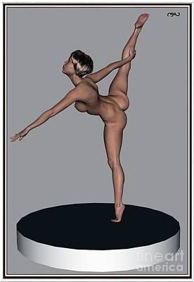 Statue Portrait Digital Art - erotic acrobatics 10EA 1 by Pemaro