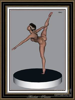 Statue Portrait Digital Art - erotic acrobatics 10EA 2 by Pemaro