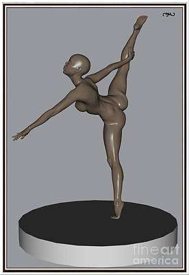 Statue Portrait Digital Art - erotic acrobatics 11EA 1 by Pemaro