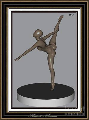 Statue Portrait Digital Art - erotic acrobatics 11EA 2 by Pemaro