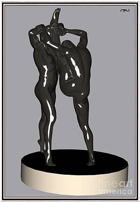 Statue Portrait Digital Art - erotic acrobatics 1EA 1 by Pemaro
