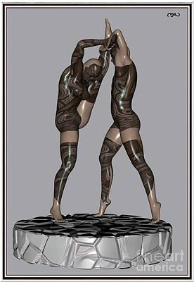 Statue Portrait Digital Art - erotic acrobatics 2EA 1 by Pemaro