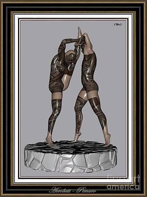 Statue Portrait Digital Art - erotic acrobatics 2EA 2 by Pemaro
