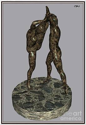 Statue Portrait Digital Art - erotic acrobatics 3EA 1 by Pemaro