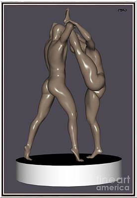 Statue Portrait Digital Art - erotic acrobatics 5EA 1 by Pemaro