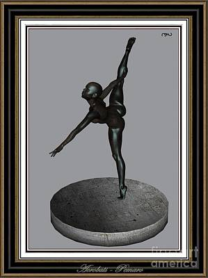 Statue Portrait Digital Art - erotic acrobatics 6EA 2 by Pemaro