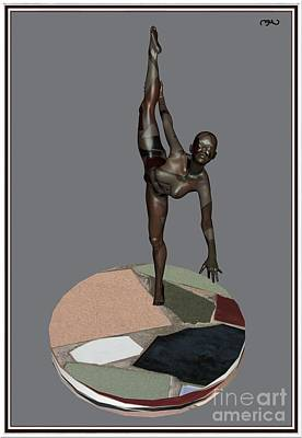 Statue Portrait Digital Art - erotic acrobatics 7EA 1 by Pemaro