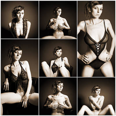Sexy Photograph - Erotic Beauty Collage 14 by Jochen Schoenfeld