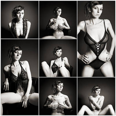 Collage Photograph - Erotic Beauty Collage 15 by Jochen Schoenfeld