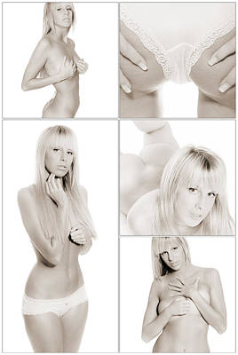 Fine Art Nudes Photograph - Erotic Beauty Collage 18 by Jochen Schoenfeld