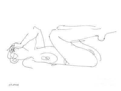 Drawing - Erotic-drawings-gpunt-25 by Gordon Punt