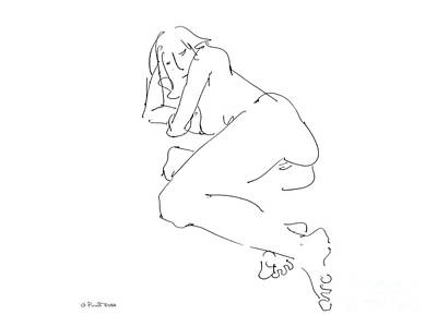 Sex Drawing - Erotic-female-drawings-21 by Gordon Punt
