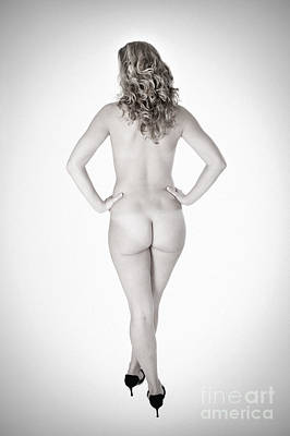 Female Body Photograph - Erotic Monochrome Back by Jochen Schoenfeld