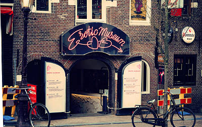 Photograph - Erotic Museum. Amsterdam by Jenny Rainbow