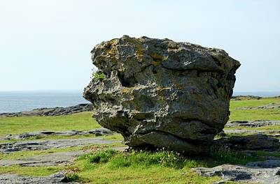 Burren Photograph - Erratic Boulder by Clouds Hill Imaging Ltd