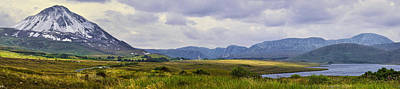 Photograph - Errigal Mountain Range - Donegal - Panorama by Jane McIlroy