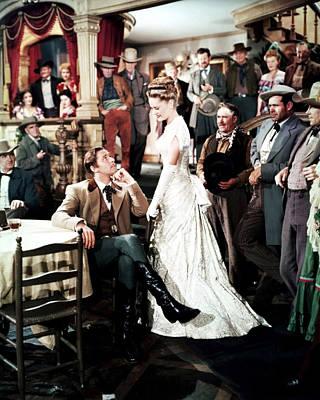 Errol Flynn In Dodge City  Print by Silver Screen