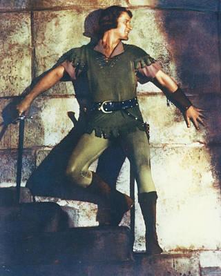 Errol Flynn In The Adventures Of Robin Hood Print by Silver Screen