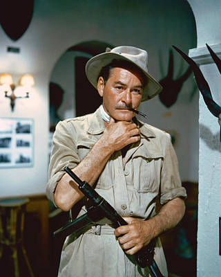 Errol Flynn In The Roots Of Heaven Print by Silver Screen