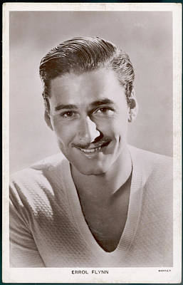 Best Irish Photograph - Errol Flynn  Irish-american Film Actor by Mary Evans Picture Library