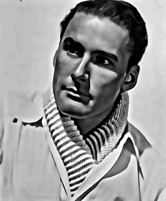 Photograph - Errol Flynn Portrait by Florian Rodarte