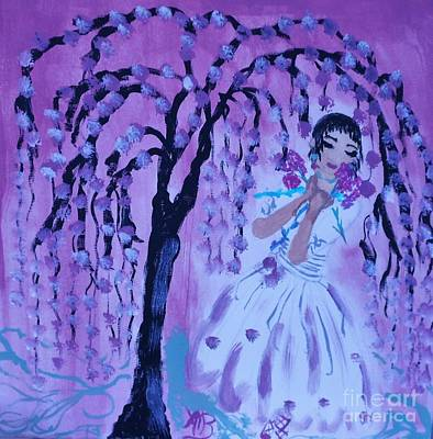 Erte'sblossom Umbrella Art Print by Marie Bulger