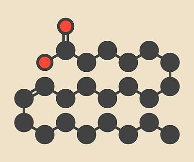 Erucic Acid Molecule Art Print by Molekuul
