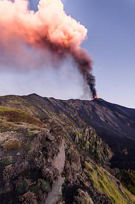 Photograph - Eruption of Etna by Marco  Calandra