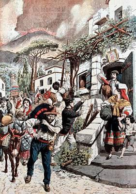 Eruption Of Vesuvius Art Print