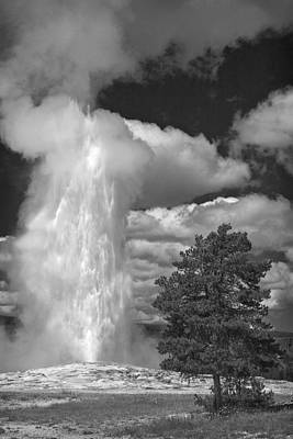 Photograph - Eruptions By The Clock by Wes and Dotty Weber