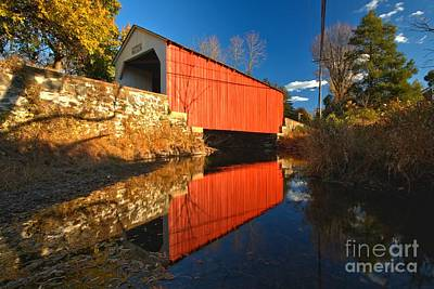 Photograph - Erwinna Pennsylvania Covered Bridge by Adam Jewell