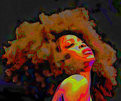Figurative Painting - Erykah Badu by Fli Art