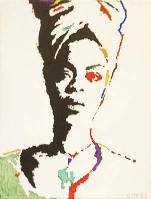Singer Songwriter Painting - Erykah Badu by Stormm Bradshaw